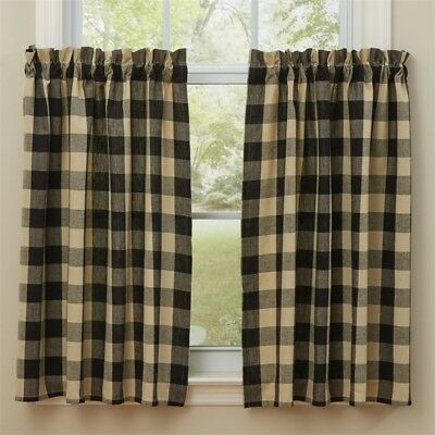Wicklow Garnet Red Check 84 X 72 Curtains : Country Tan Intended For Grandin Curtain Valances In Black (View 30 of 30)
