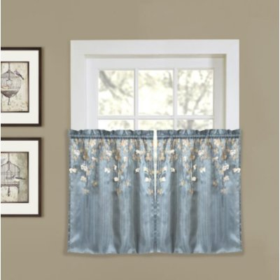 "Willa Arlo Interiors Riehl Light Filtering 29"" Kitchen In Luxury Light Filtering Straight Curtain Valances (View 27 of 47)"