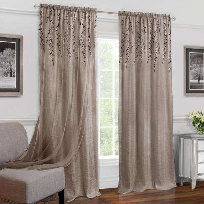 Willow Toffee Polyester Rod Pocket Curtain – 42 In. W X 84 In (#49 of 49)