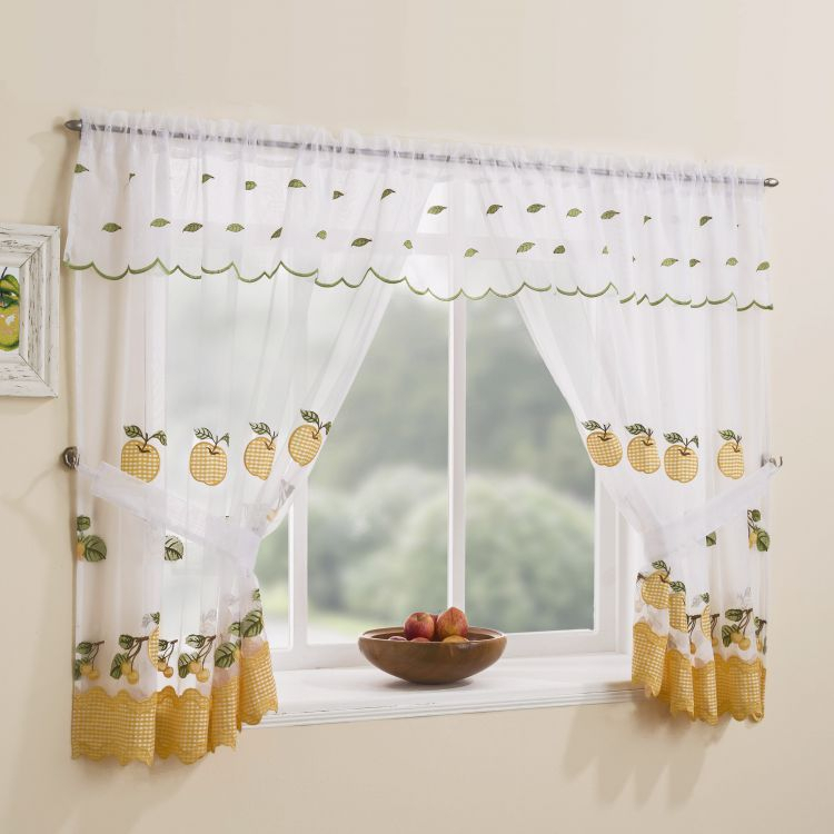 Winchester Kitchen Window Set – Yellow Inside Classic Kitchen Curtain Sets (View 46 of 50)