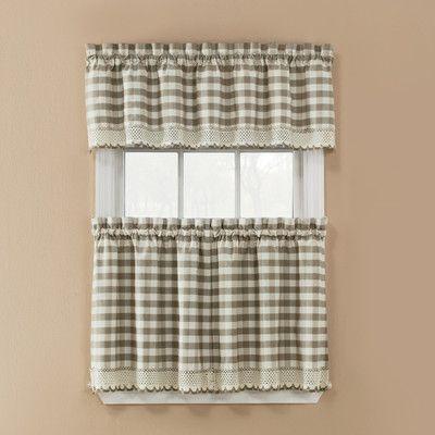 Popular Photo of Cotton Classic Toast Window Pane Pattern And Crotchet Trim Tiers