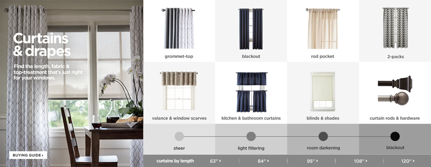 Window Curtains & Drapes | Holiday Curtains Sale | Jcp Within Classic Kitchen Curtain Sets (View 48 of 50)