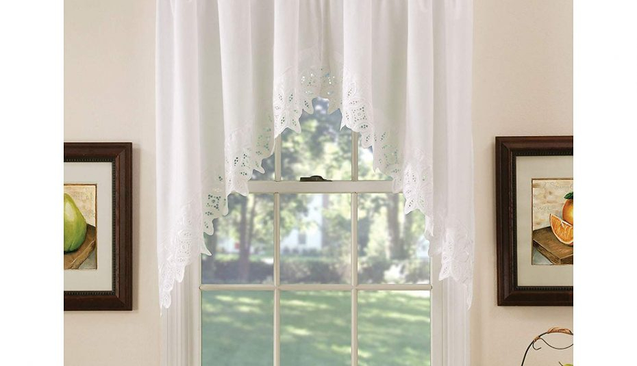 Windows Victory Lace Bell Diy Black Curtain Curtains Swag For Medallion Window Curtain Valances (#48 of 48)