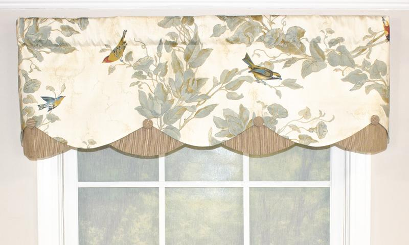 Windsong Petticoat Valance | Rlf Home Throughout Aviary Window Curtains (View 30 of 30)