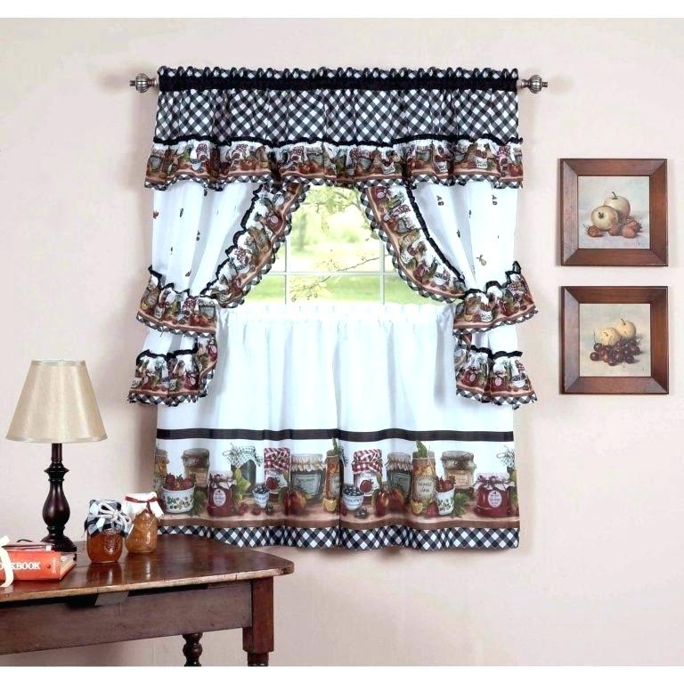 Winsome 3 Piece Kitchen Curtain Sets Kitchenaid Mixer For Scroll Leaf 3 Piece Curtain Tier And Valance Sets (View 24 of 50)