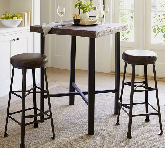 Popular Photo of Griffin Reclaimed Wood Bar Height Tables