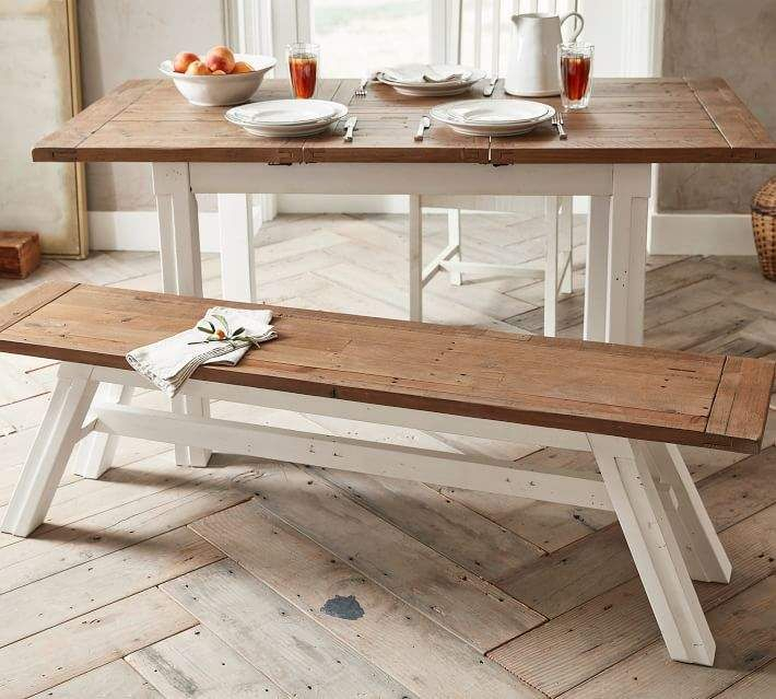 Wood Dining Bench Intended For Most Recently Released Hart Reclaimed Wood Extending Dining Tables (#30 of 30)