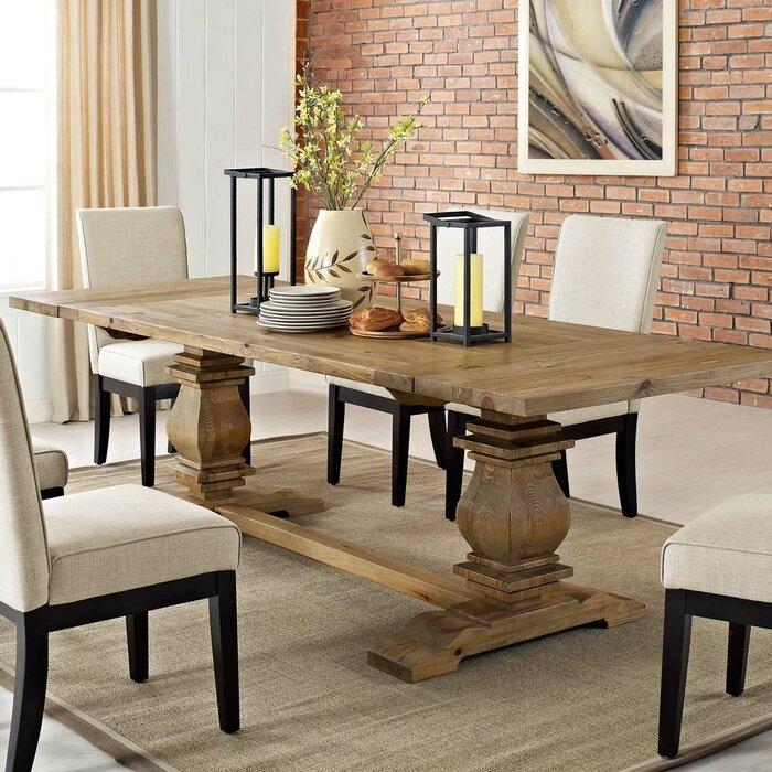 Wooden Extendable Dining Tables – Table Design Ideas Within Popular Driftwood White Hart Reclaimed Pedestal Extending Dining Tables (View 17 of 30)