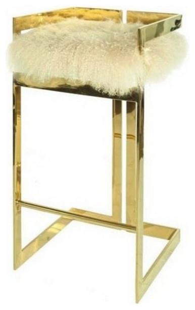 Worlds Away, Hearst Chair, Hearst, Brass Inside Latest Hearst Bar Tables (#20 of 20)