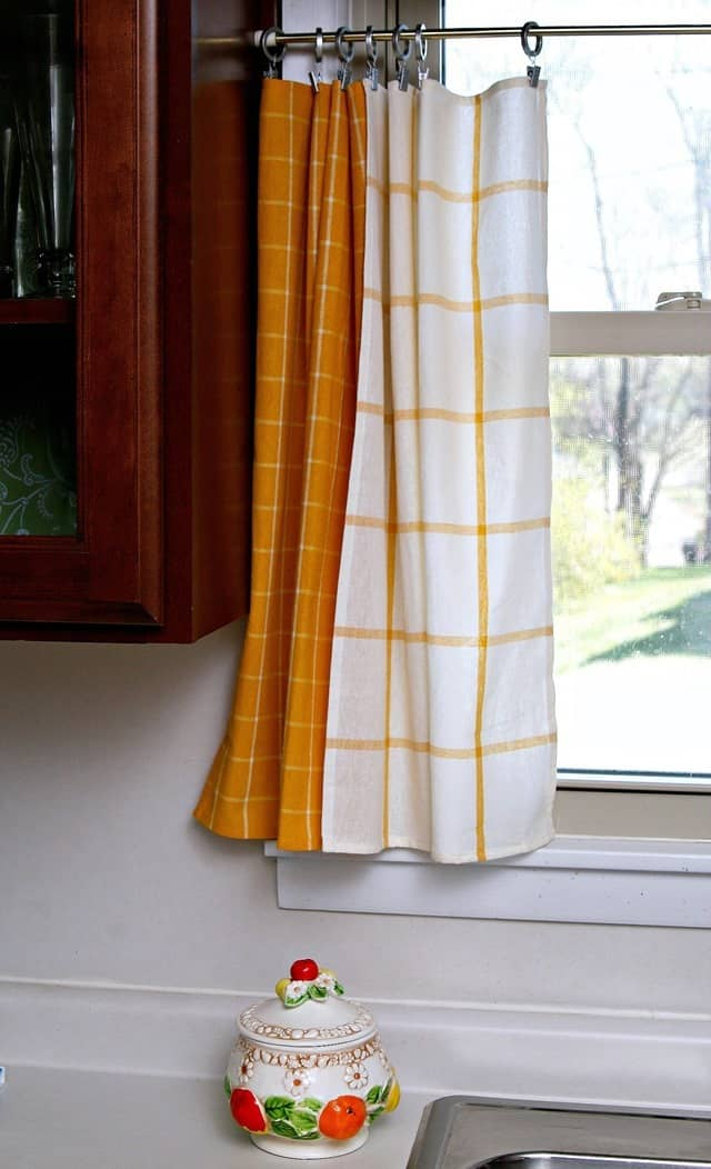 Yellow Dish Towel Kitchen Curtain Tiers – Petticoat Junktion For Kitchen Curtain Tiers (View 49 of 50)
