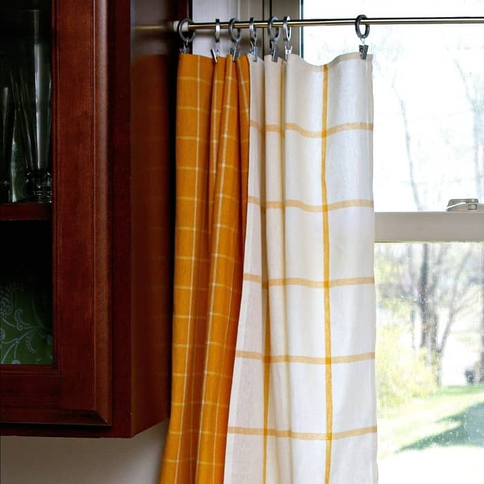 Yellow Dish Towel Kitchen Curtain Tiers – Petticoat Junktion With Kitchen Curtain Tiers (View 27 of 50)