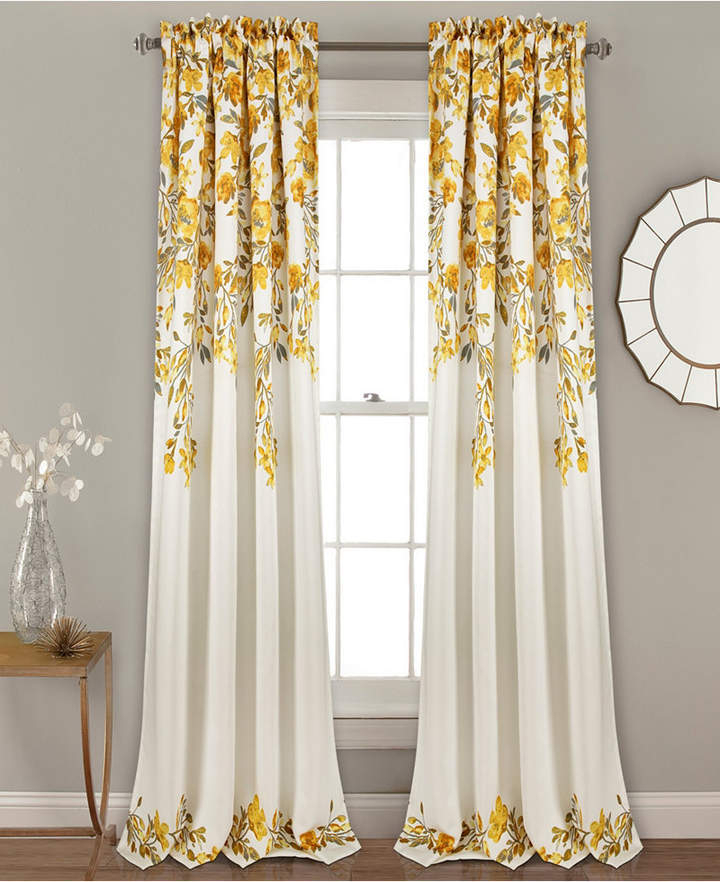 Yellow Window Panels – Shopstyle Regarding Lemon Drop Tier And Valance Window Curtain Sets (#30 of 30)