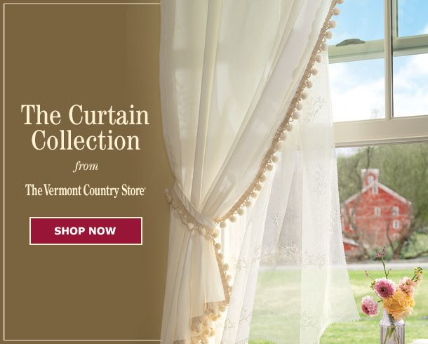 Your Favorite Country Curtains Now At The Vermont Country Store Pertaining To Floral Watercolor Semi Sheer Rod Pocket Kitchen Curtain Valance And Tiers Sets (View 50 of 50)