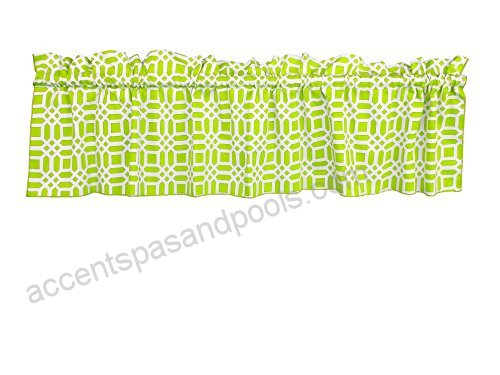 Zen Creative Designs 100% Cotton Valance Vector Pattern Regarding Trellis Pattern Window Valances (#30 of 30)