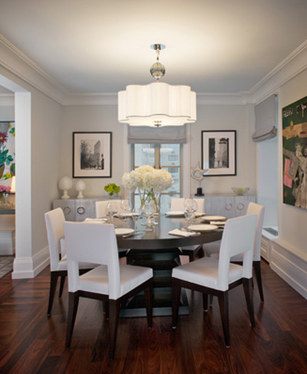 140+ Elegant And Formal Dining Room Designs With Round Table In Latest Elegance Small Round Dining Tables (#1 of 20)