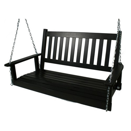Popular Photo of 2 Person Black Wood Outdoor Swings