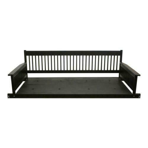 2 Person Daybed Wooden Porch Patio Swing Hanging Seat For 2 Person Black Wood Outdoor Swings (View 2 of 20)