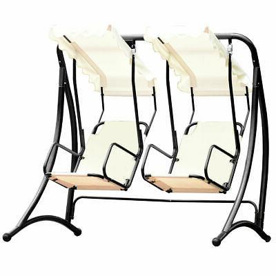 2 Person Hammock Porch Swing Patio Outdoor Hanging With Regard To 2 Person Hammock Porch Swing Patio Outdoor Hanging Loveseat Canopy Glider Swings (View 4 of 20)
