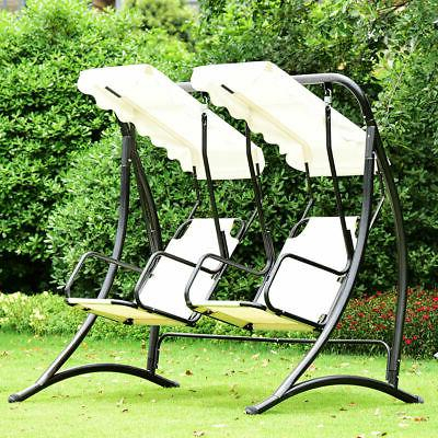 2 Person Hammock Porch Swing Patio Outdoor Hanging Within 2 Person Hammock Porch Swing Patio Outdoor Hanging Loveseat Canopy Glider Swings (View 3 of 20)
