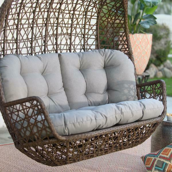 2 Person Hanging Loveseat Swing Porch Patio Resin Wicker Outdoor Garden Bench Throughout 2 Person Hammock Porch Swing Patio Outdoor Hanging Loveseat Canopy Glider Swings (View 20 of 20)