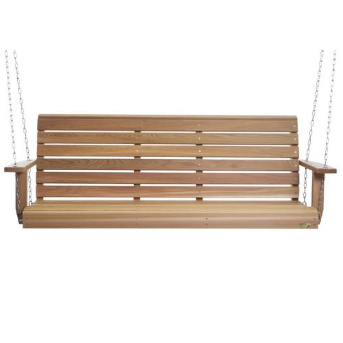 2 Person Natural Cedar Wood Outdoor Swing For 2 Person Natural Cedar Wood Outdoor Swings (#1 of 20)