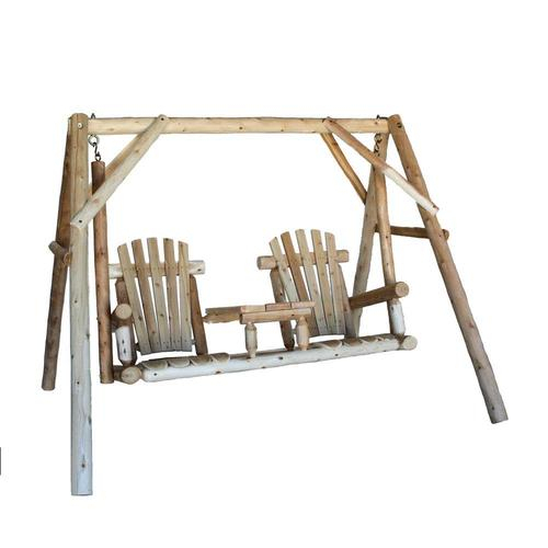 2 Person Natural Cedar Wood Outdoor Swing Regarding 2 Person Natural Cedar Wood Outdoor Swings (#3 of 20)