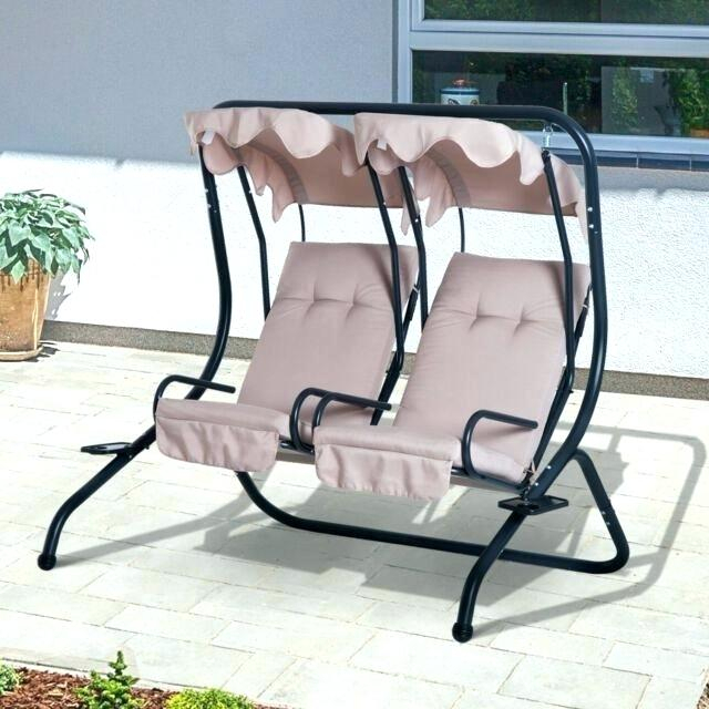 2 Person Patio Swing With Table – Mkrdip Regarding 2 Person Gray Steel Outdoor Swings (#3 of 20)