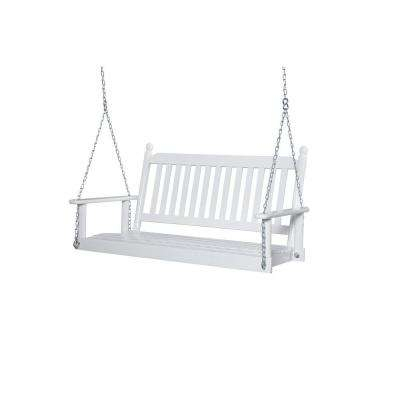 2 Person White Porch Swing With Casualthames White Wood Porch Swings (View 15 of 20)