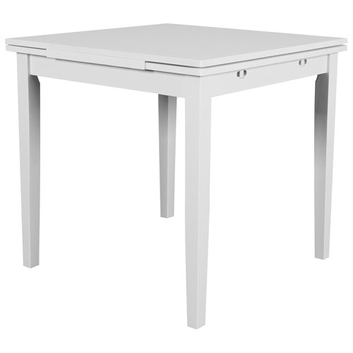 2019 Contemporary 4 Seating Square Dining Tables Throughout Dillon Contemporary 4 Seating Square Dining Table – White (#2 of 20)