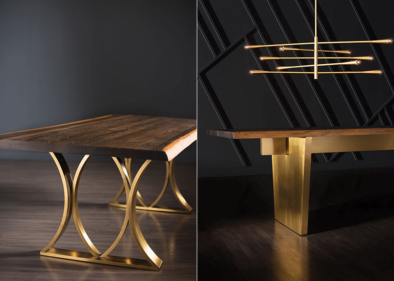 2019 Dining Tables In Smoked Seared Oak In Dining Tables With Industrial Details – Rouse Home (#1 of 20)