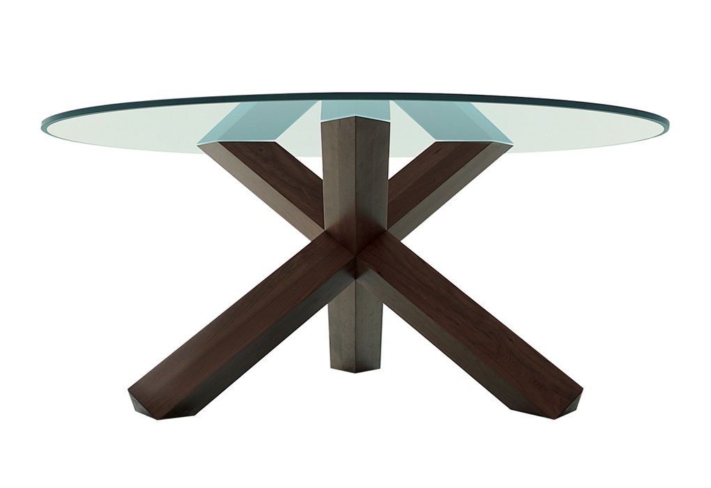 2019 Dining Tables With Stained Ash Walnut Pertaining To La Rotonda Dining Table Designedmario Bellini (View 13 of 20)