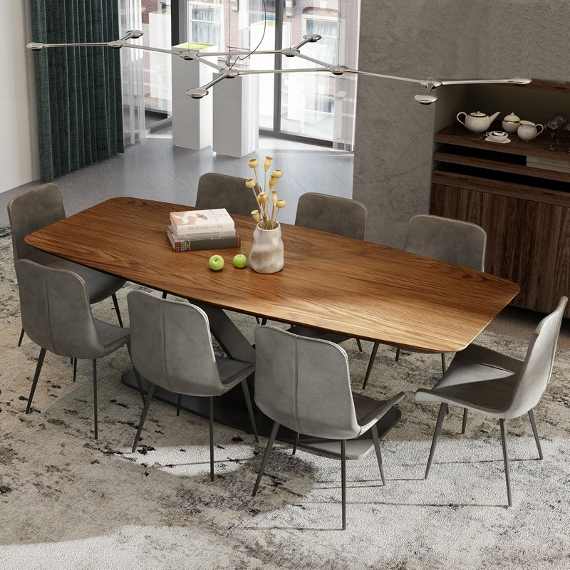 2019 Fashional Design Recetangle Dining Table Furniture Wooden  Top With Metal Base In Dining Room Sets From Furniture On Aliexpress With Wood Top Dining Tables (#1 of 20)