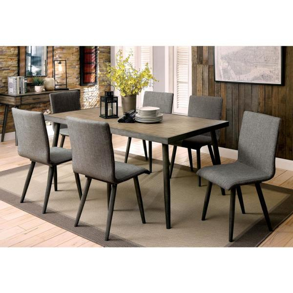 2019 Frosted Glass Modern Dining Tables With Grey Finish Metal Tapered Legs Inside Vilhelm I Gray Mid Century Modern Style Dining Table (#1 of 20)