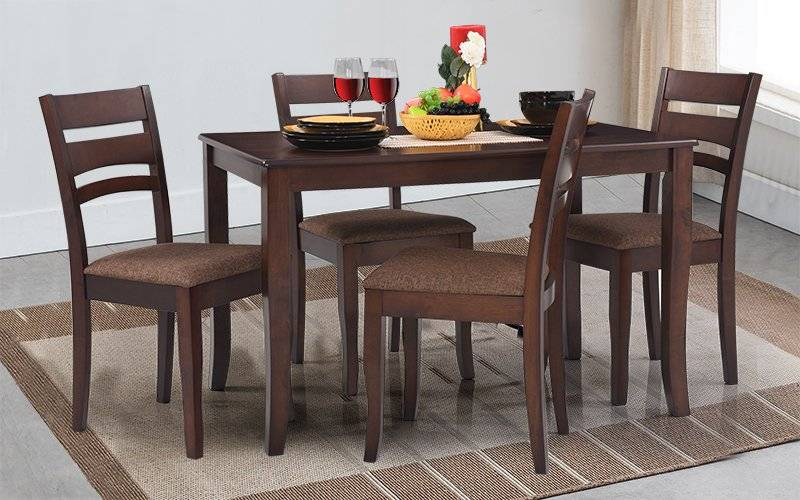2019 Furniture Dining Room Apex Solid Wood Set Cushioned Chairs In Solid Wood Circular Dining Tables White (View 15 of 20)