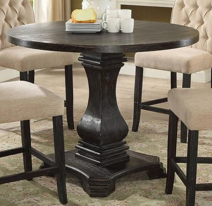Inspiration about 2019 Furniture Of America Cm3840rpttable With Regard To Antique Black Wood Kitchen Dining Tables (#18 of 20)