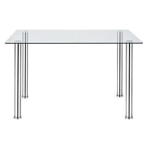 2019 Glass Dining Tables With Metal Legs Pertaining To Glass Dining Table,tempered Glass Rectangle Table With (#1 of 20)
