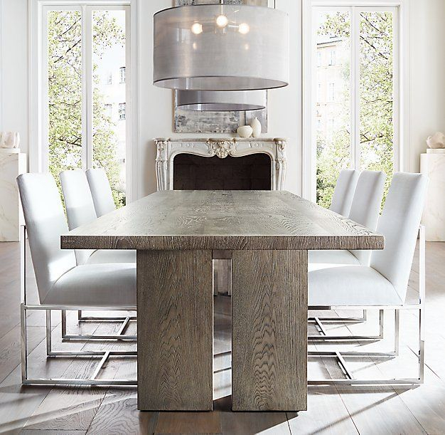 2019 Rectangular Dining Tables In Rh Modern's Seagram Rectangular Dining Table:with Its (#1 of 20)