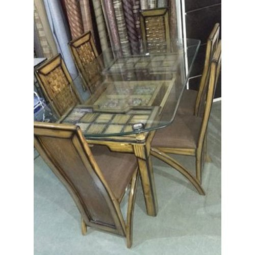2019 Rectangular Glass Top Dining Tables Intended For Glass Top Wooden Dining Table Set (#1 of 20)