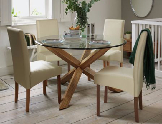 2019 Round Glass Top Dining Tables Throughout Glass Dining Tables – Our Pick Of The Best (View 12 of 20)