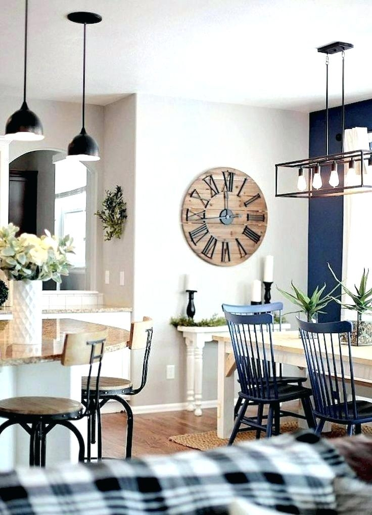 2019 Small Rustic Look Dining Tables Pertaining To Farmhouse Dining Room Decorating Ideas Decor Gorgeous Rustic (View 19 of 20)