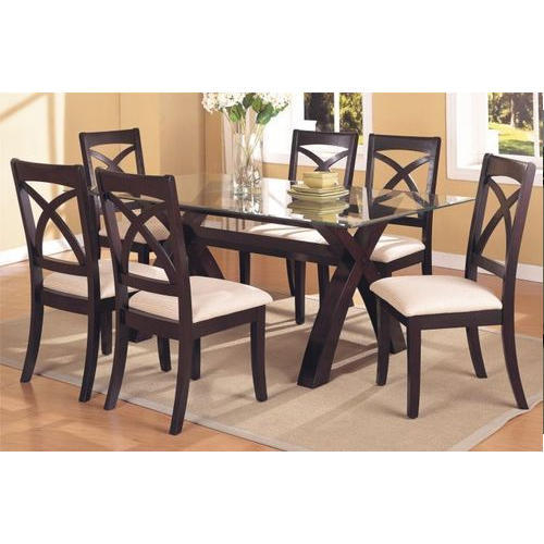 2019 Transitional 6 Seating Casual Dining Tables Intended For Glass And Wood Dining Table Set Brilliant Modern Intended (View 9 of 20)