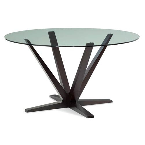 2020 Aura 48 Inch Chocolate Round Glass Top Dining Table Intended For Round Glass Top Dining Tables (View 14 of 20)