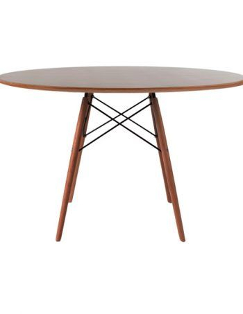 2020 Eames Style Dining Tables With Wooden Legs Within Charles & Ray Eames Style Walnut Round Dining Table Walnut Legs 120 Cm (#1 of 20)