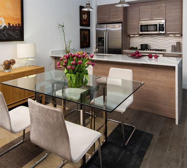 2020 Glass Top Condo Dining Tables Throughout Here Are 20 Stunning Condo Dining Areas To Inspire You (#2 of 20)