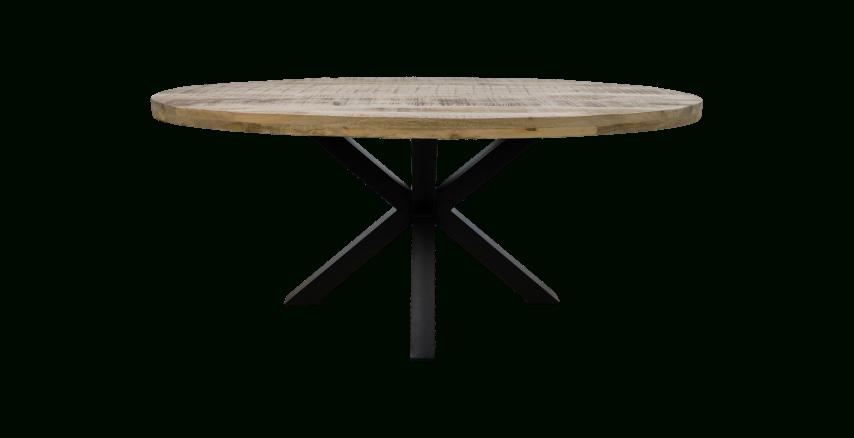 2020 Oval Dining Table Portland – 180X100 Cm – Mango Wood/iron Inside Iron Dining Tables With Mango Wood (View 18 of 20)