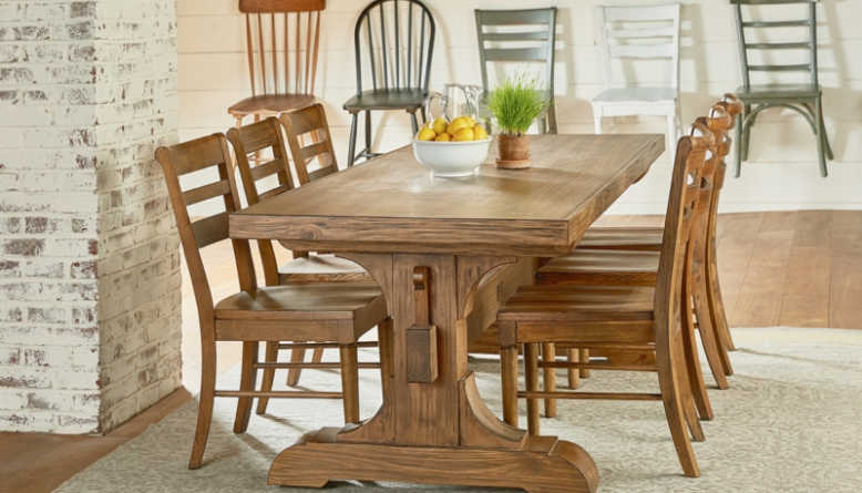 2020 Small Rustic Look Dining Tables Regarding Farmhouse Dining Table Ideas Cozy Rustic Look Diy Home Art (View 5 of 20)