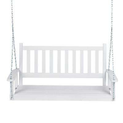 Popular Photo of CasualThames White Wood Porch Swings