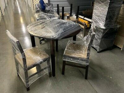Inspiration about 3 Pieces Dining Tables And Chair Set Inside Famous Coaster Hf 3 Piece Dining Table And Chairs Set. Brown. Foldable Ends. (#6 of 21)