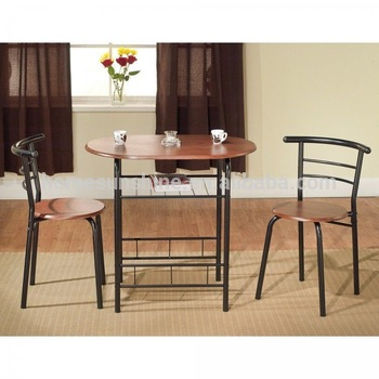3 Pieces Dining Tables And Chair Set Within Most Recent 3 Piece Bistro Dining Set Breakfast Nook Kitchen Dining Table & Chair – Buy  Table And Chair Set,dining Round Table And Chair Set,space Saving Dining (View 11 of 21)