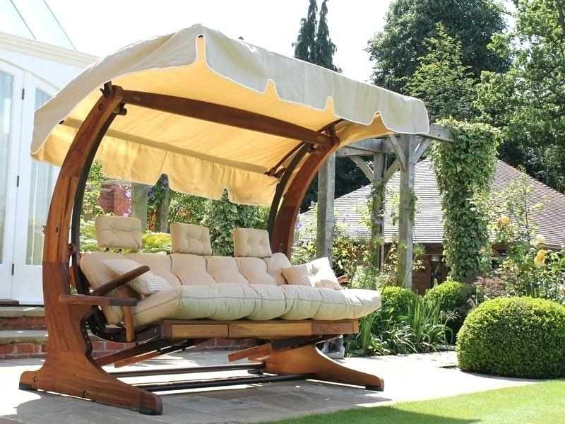 3 Seater Garden Swing Seat Wooden Chair Cushions – For The Intended For 3 Seat Pergola Swings (View 20 of 20)